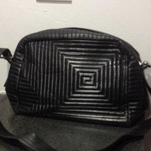 Black leather Bally handbag